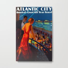 Atlantic City New Jersey Travel Metal Print