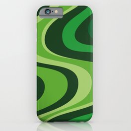 70's Green Vibe iPhone Case