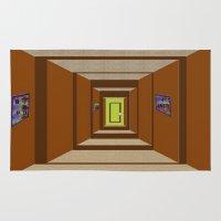 door Area & Throw Rugs featuring Door by Holly Williams