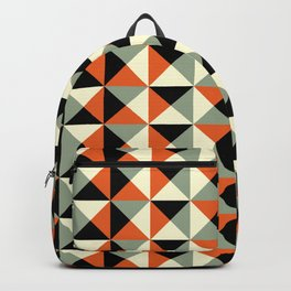Mid-century pattern 138 (orange triangles) Backpack