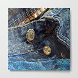 Jeans, Metal Print
