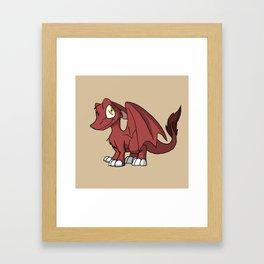 Chocoberry SD Furry Dragon Framed Art Print