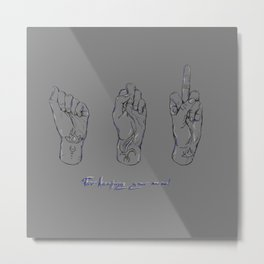 For keeping your nerve! Metal Print