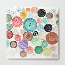 Buttons! Metal Print