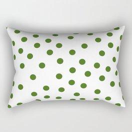 Simply Dots in Jungle Green Rectangular Pillow