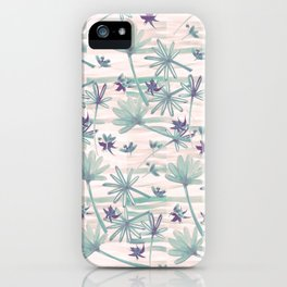 Sea floral print iPhone Case
