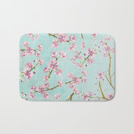 Spring Flowers - Cherry Blossom Pattern Bath Mat