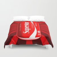 coca cola Duvet Covers featuring Coca Cola - Coke - Superstar - Pop Art  by William Cuccio aka WCSmack