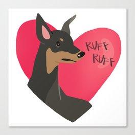 """Ruff Ruff"" Puppy Love Canvas Print"