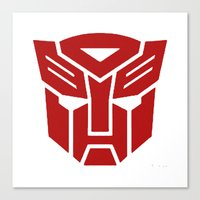transformers Canvas Prints featuring Transformers by tshirtsz