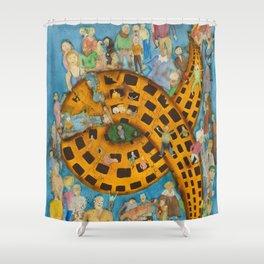 Torrid Yellow House / Casa Amarela Tórrida Shower Curtain