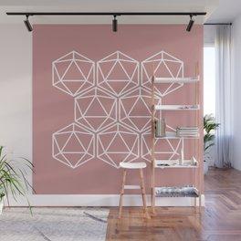 Pink Polygon Wall Mural