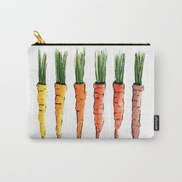 Happy colorful carrots Carry-All Pouch