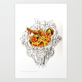 Knees to Chest Art Print