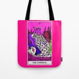3. The Empress- Neon Dreams Tarot Tote Bag