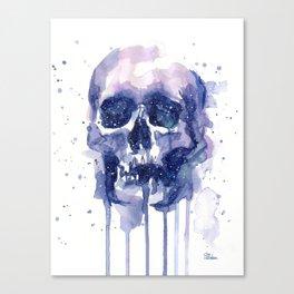 Galaxy Skull Canvas Print