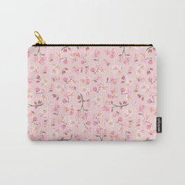 Cherry Blossom Pattern on Peach Background Carry-All Pouch