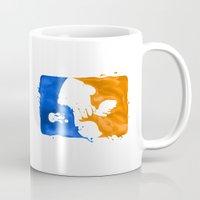 league Mugs featuring Major Ink League by Jango Snow