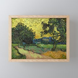 Vincent Van Gogh : Landscape at Twilight Framed Mini Art Print
