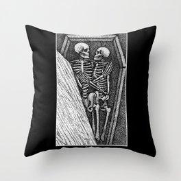 Toujours - Skeleton Lovers Throw Pillow