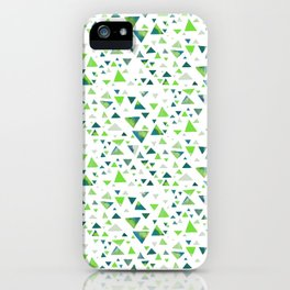 Hypnotic Green Triangles iPhone Case