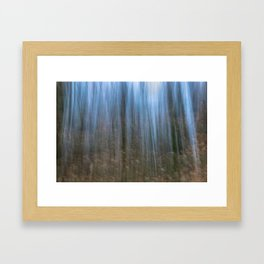 Abstract forest, intentional camera movement Framed Art Print