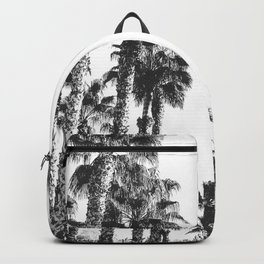 Palm Tree Days {2 of 2} Tropical Black and White Cali Art Print Backpack