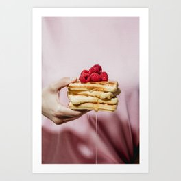 Waffles Art Print