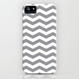 Grey Chevron Pattern iPhone Case