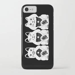 Three Smart Cats iPhone Case