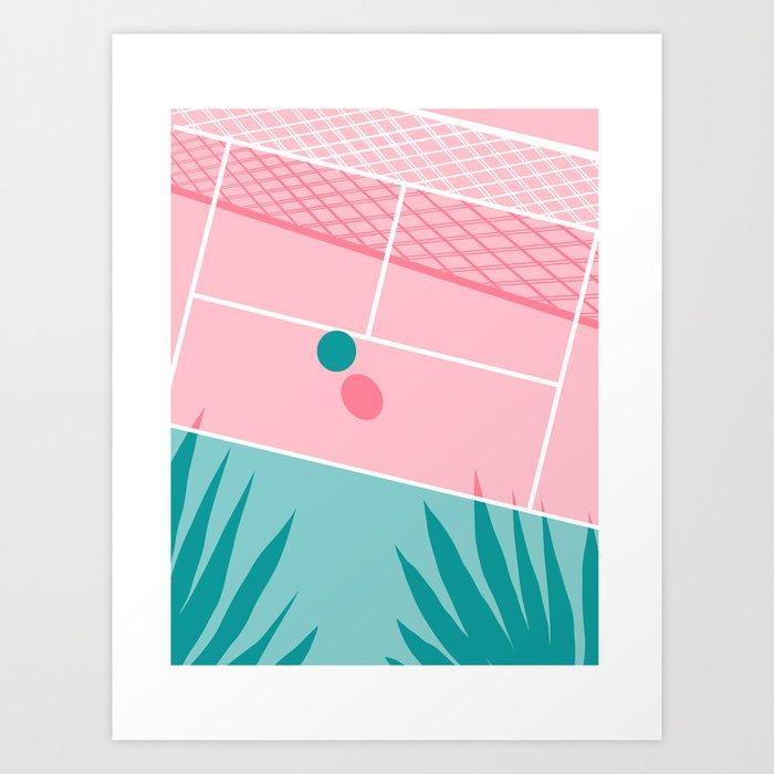 Jock - tennis sport retro neon throwback palm springs los angeles hollywood california sunny pop art Art Print
