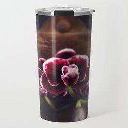 Purple Orchids Travel Mug