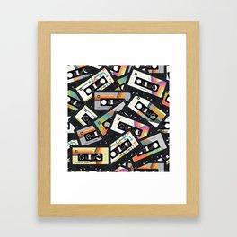 Retro Vintage Cassette Tapes Framed Art Print