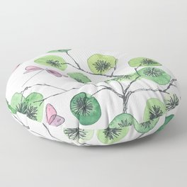 a touch of summer fragrance - white background Floor Pillow