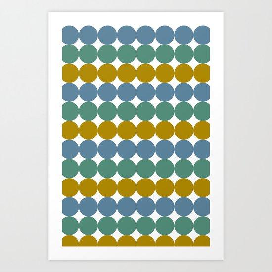 Formes et couleurs Art Print