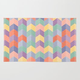 Colorful geometric blocks Rug