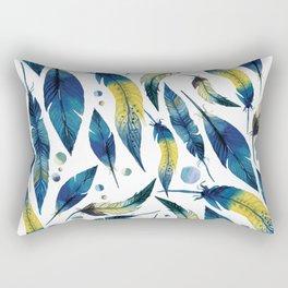 Falling Feathers Rectangular Pillow