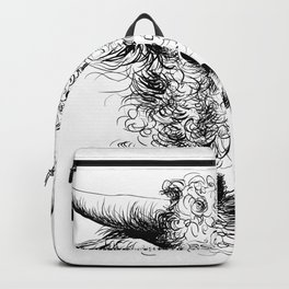 Hand drawn bull, cow, bison, bufalo head portrait   Backpack