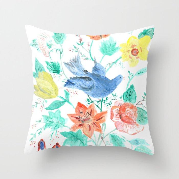 Spring Bloom Throw Pillow