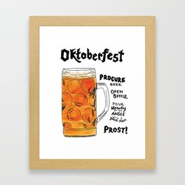 The Drink Collective: Oktoberfest Framed Art Print