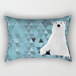 Polar Bear (in a hole in the ice) Rectangular Pillow