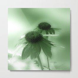 Windflower in Green Metal Print