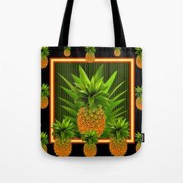 MODERN ART GREEN-BLACK  HAWAIIAN PINEAPPLE ART Tote Bag