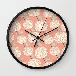 Sweet Petals Wall Clock