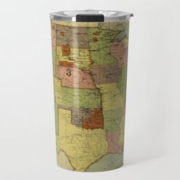 Map of Indian Reservations 1902 Travel Mug
