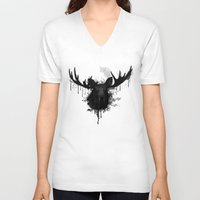 moose V-neck T-shirts featuring Moose by Nicklas Gustafsson