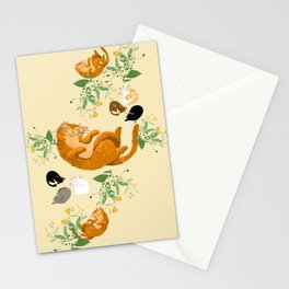 Sleeping cats family Stationery Cards