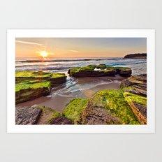a Mossy Sunrise  Art Print