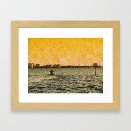 Choppy Waters Framed Art Print