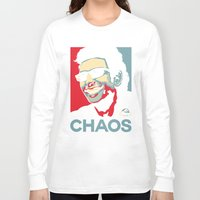 jurassic park Long Sleeve T-shirts featuring 'Chaos' Ian Malcolm (Jurassic Park) by Tabner's
